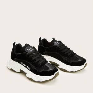 Lace up front chunky sole trainers
